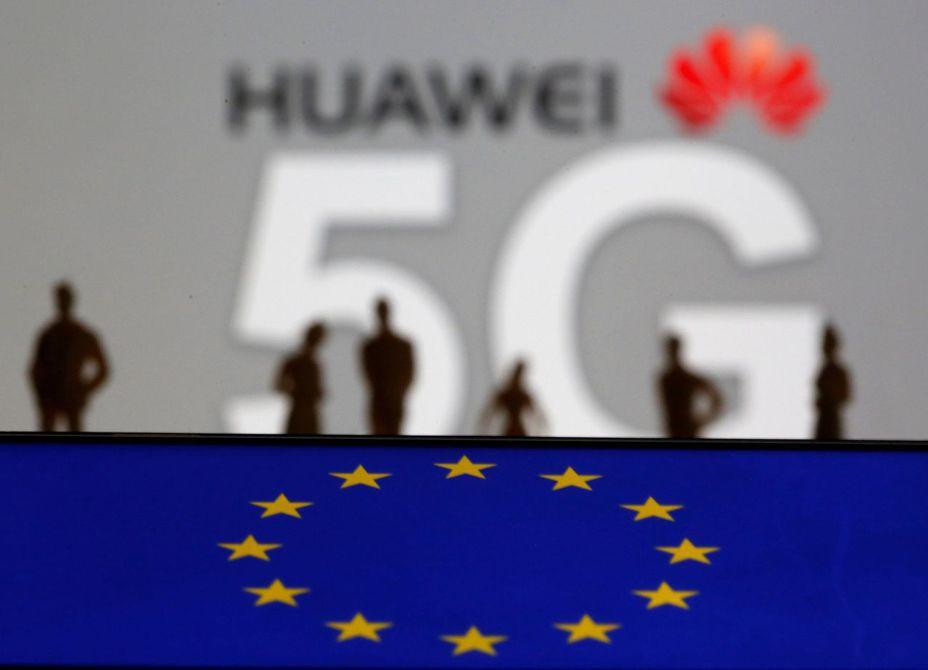 歐洲新一代移動通信網絡中大幅減少使用中國華為公司的設備。圖/路透社