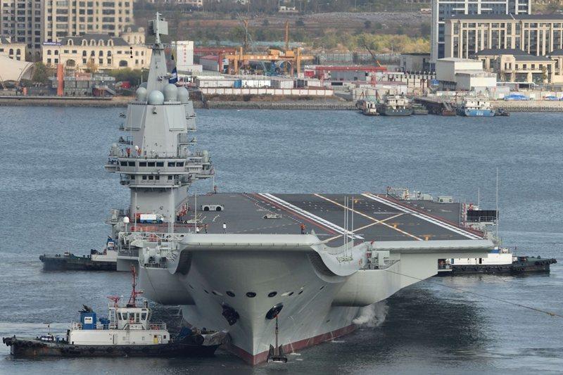 圖為中國自製航艦山東號,於2019年正式成軍服役。 圖/美聯社