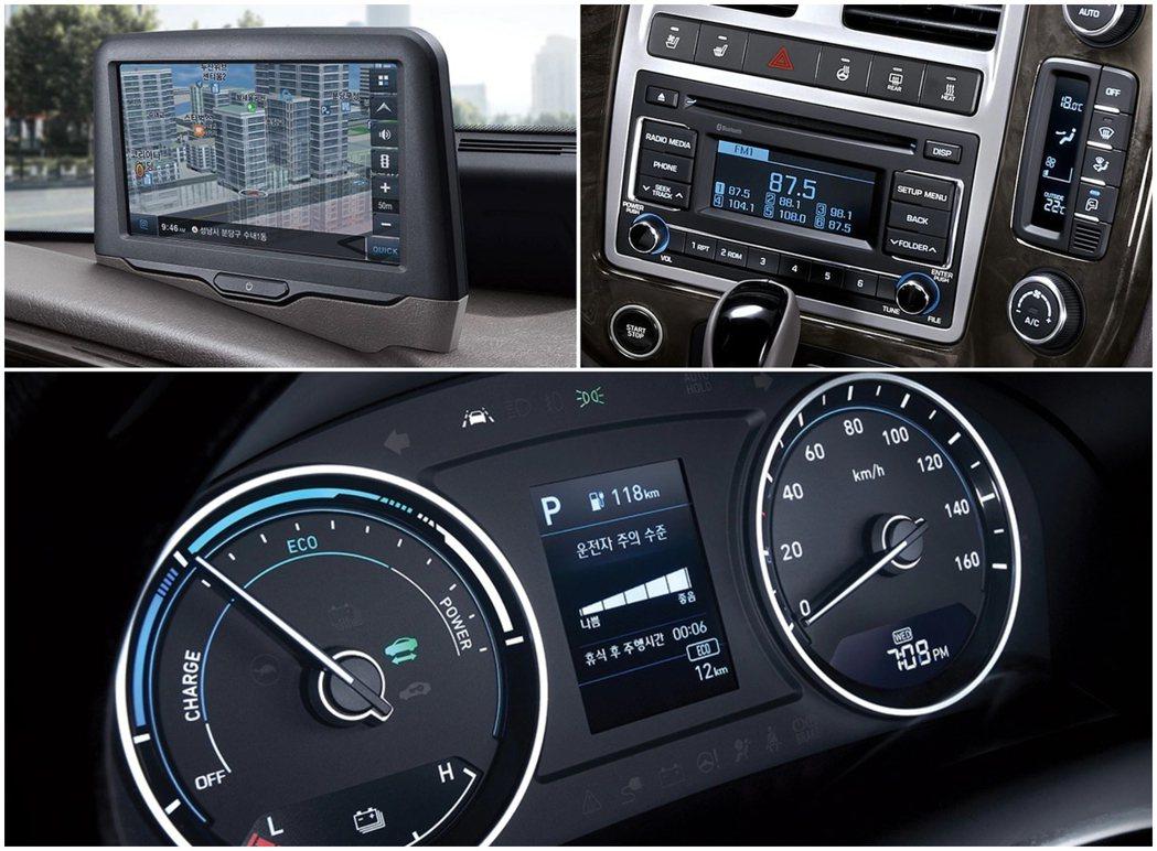 Hyundai Porter II Electric在雙環式儀表的設計上與柴油車...