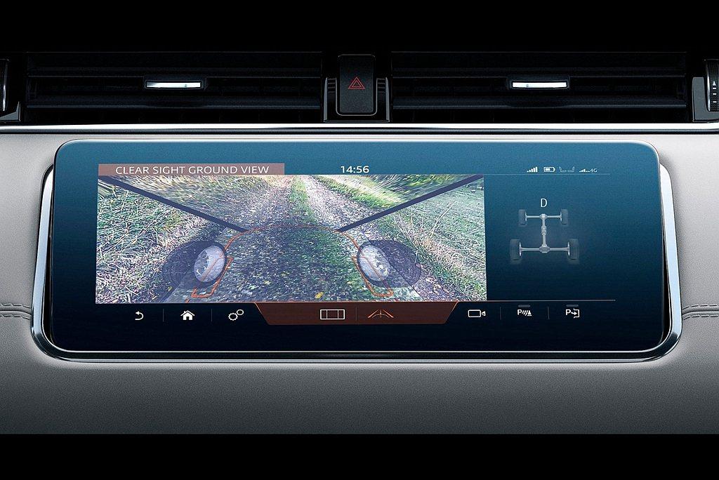 360度環景顯示含ClearSight對地視野與水深偵測系統,在車速低30km/...