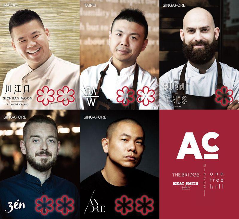 江振誠旗下已有5間餐廳共獲得9顆星的榮譽。圖/川江月提供