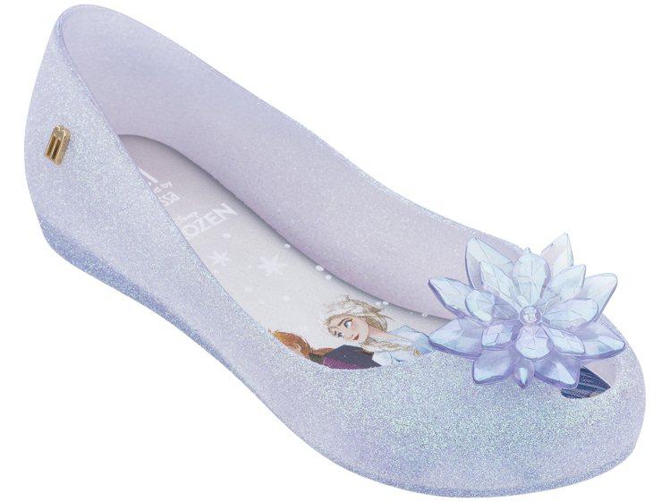 Melissa x 冰雪奇緣娃娃鞋(兒童粉晶紫款),售價3,380元。圖/Mel...