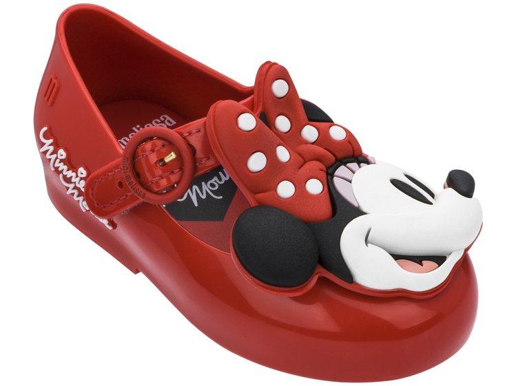 Melissa x Mickey娃娃鞋(寶寶紅色款),售價2,980元。圖/Me...
