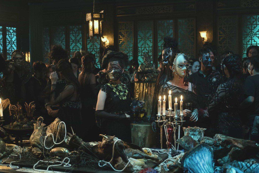 「彼岸之嫁」重金佈置奇幻詭譎的地獄派對場景,精緻程度將令觀眾大開眼界。圖/Net...