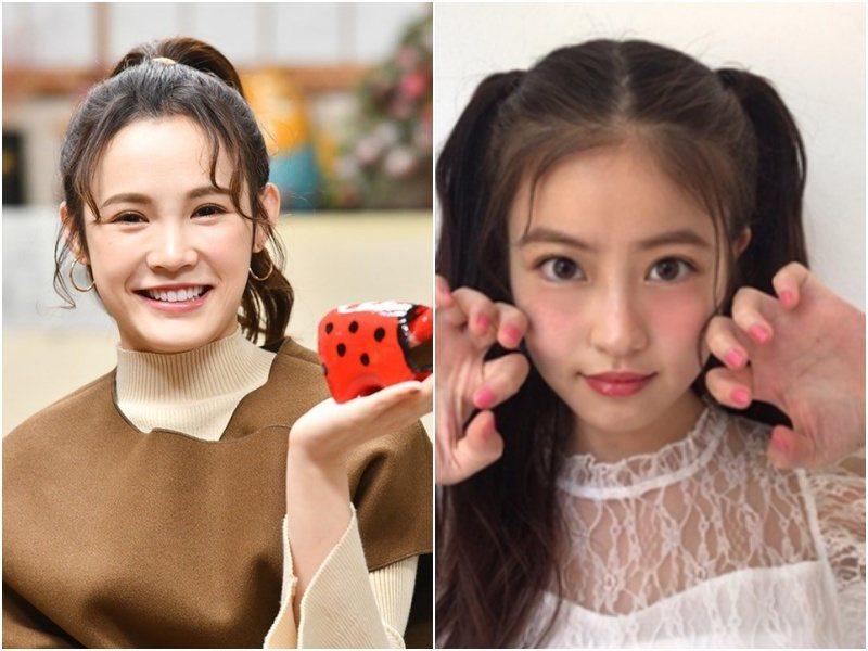 吳心緹(左)被讚撞臉「福岡第一美少女」今田美櫻。圖/傳遞娛樂提供、今田美櫻IG