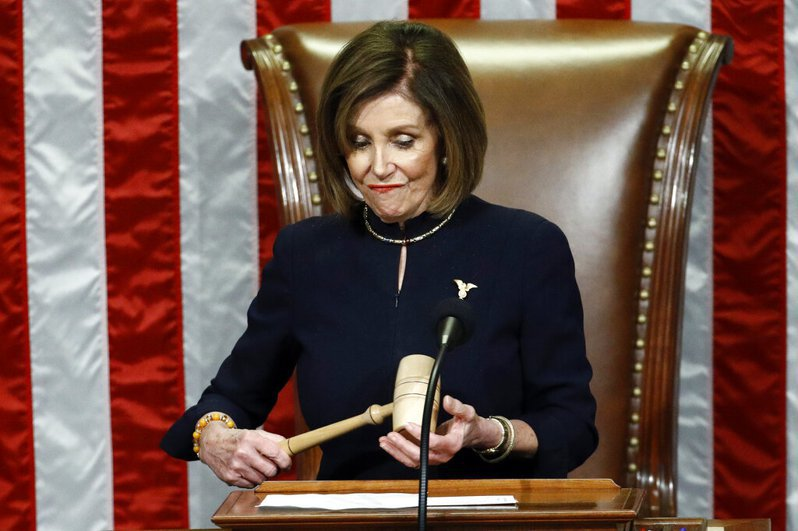 美國眾議院議長波洛西。美聯社