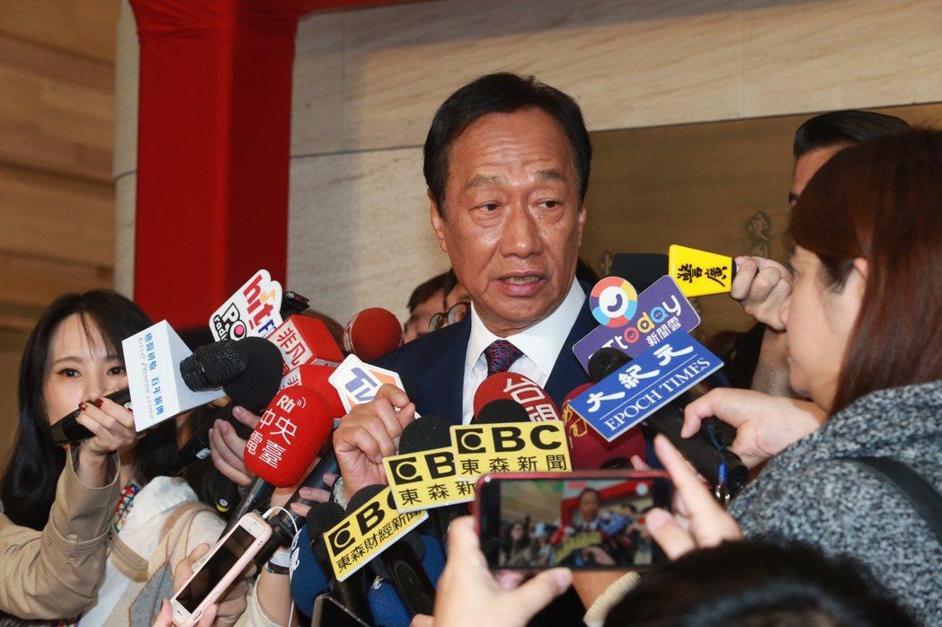 鴻海創辦人郭台銘昨在政論節目中坦言後悔退選。 圖/聯合報系資料照片