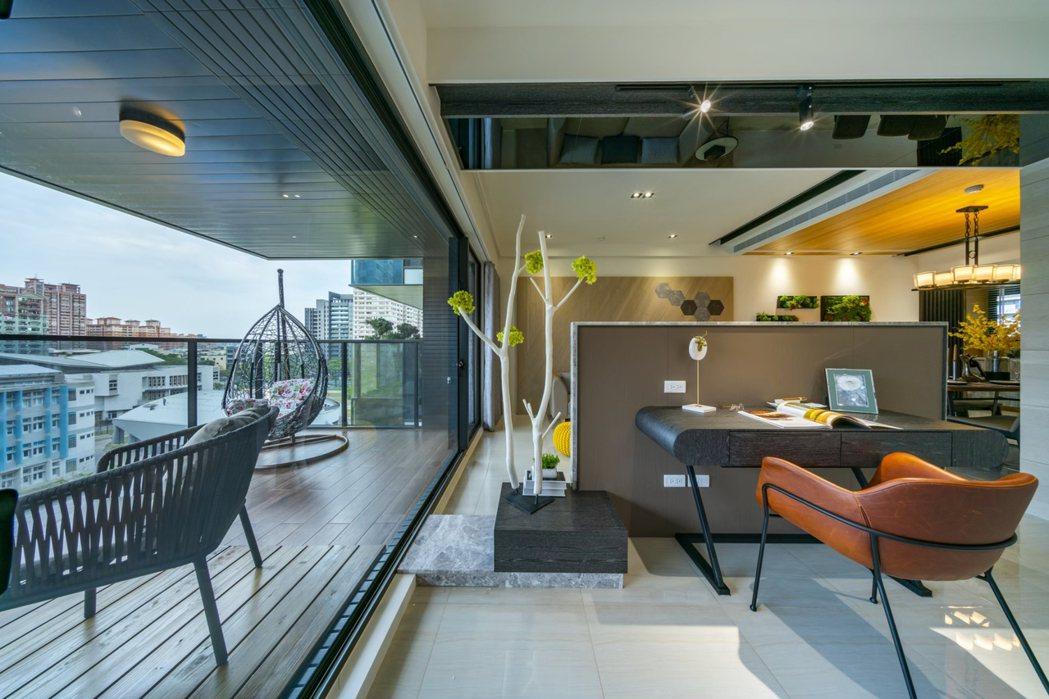 「閱河堤」河堤社區首座擁有高雄厝綠建築陽台的質感好宅。 業者/提供
