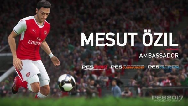 奧斯爾曾成為《PES 2017》的遊戲代言 圖:官方圖片