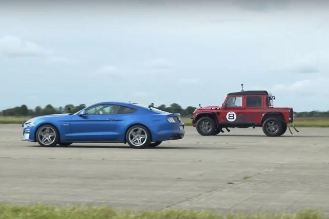 影/Ford Mustang GT好欺負嗎?Land Rover Defender也來挑戰?