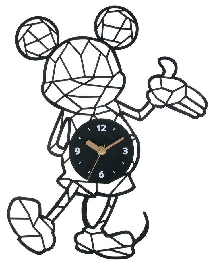 HOLA迪士尼系列幾何造型靜音壁鐘,原價999元、特價799元。圖/HOLA提供