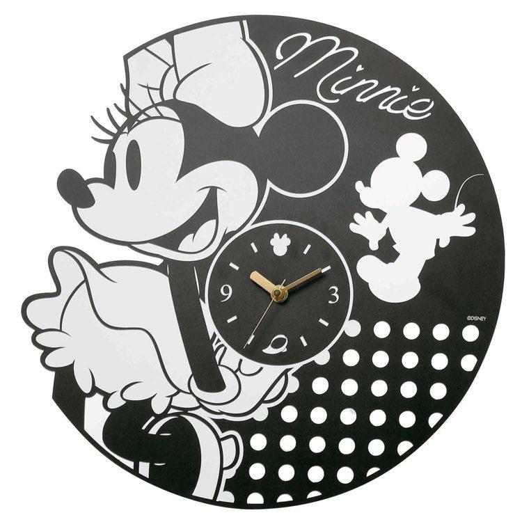HOLA迪士尼系列黑膠造型靜音壁鐘,原價1,290元、特價999元。圖/HOLA...