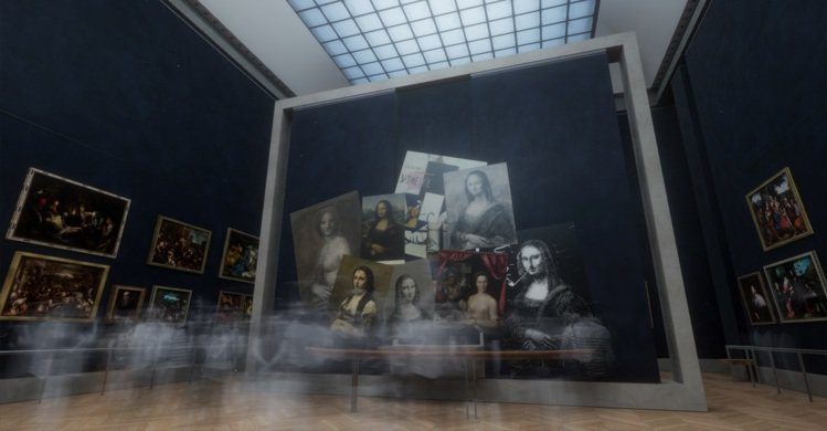 透過VR,國際名畫一次看。圖/故宮提供