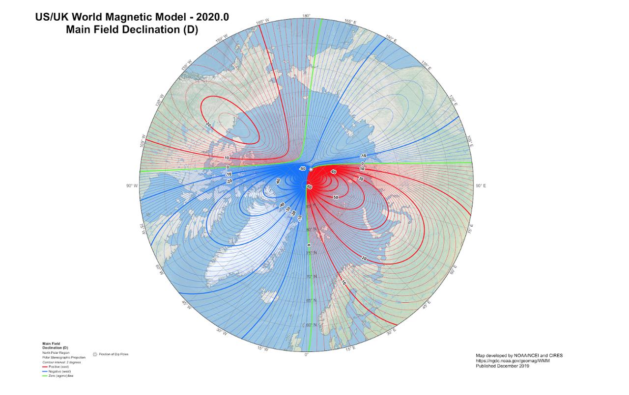 外媒報導,做為軍民導航系統基礎的地磁北極正朝著俄羅斯方向積極移動,速率近年加快,...