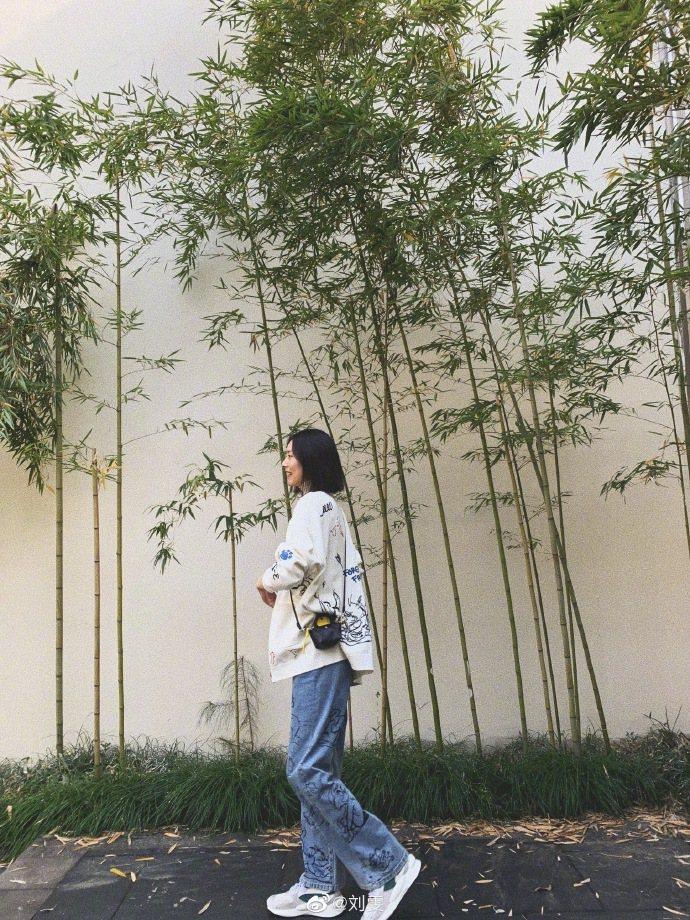 劉雯配戴Le Nano Pliage牛皮奈米手袋,別具童趣。圖/LONGCHAM...