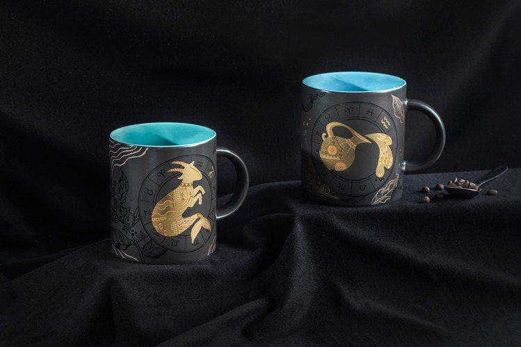 全新「魔羯星座馬克杯」、「水瓶星座馬克杯」12/26現貨販售。圖/星巴克提供
