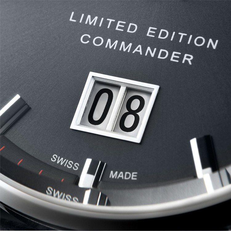 美度表Commander Big Date香榭系列大日期窗60周年限量表款,表盤...