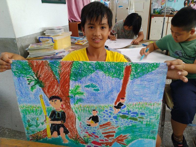 台東縣加拿國小提出《一部動畫讓世界看見加拿》計畫,獲得30萬元的教育基金。圖/法藍瓷想像計畫提供
