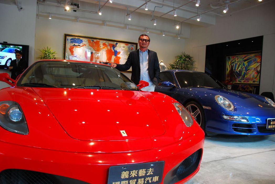 雄崗建設董事長林清吉愛玩車,把自己最喜愛的都拿出來分享。 楊鎮州/攝影