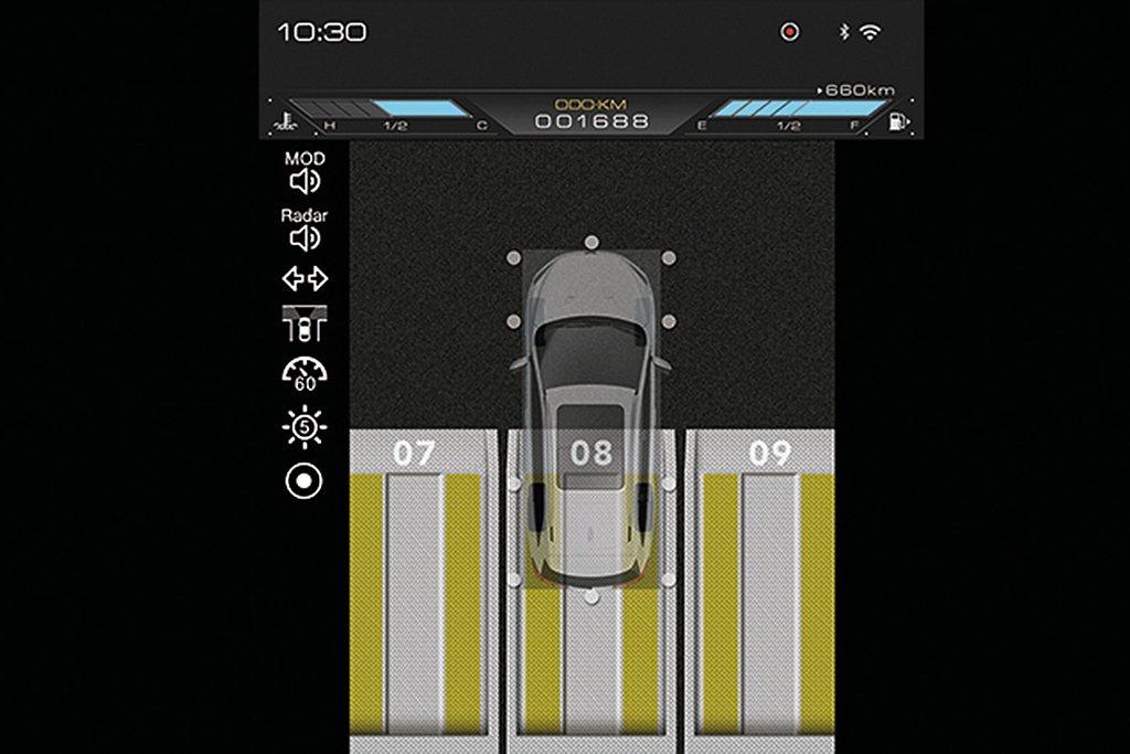 中國版納智捷URX的AR版車型,增加實用的AR View+ System行車AR...