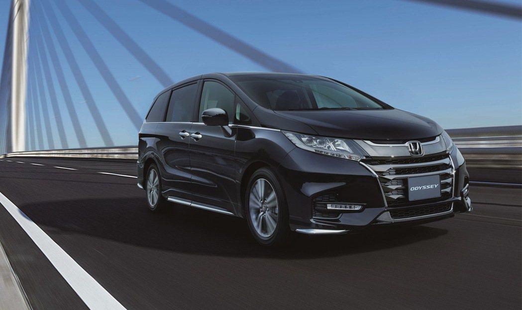 日系進口MPV車款Honda ODYSSEY推新年式車型。 圖/Honda Ta...