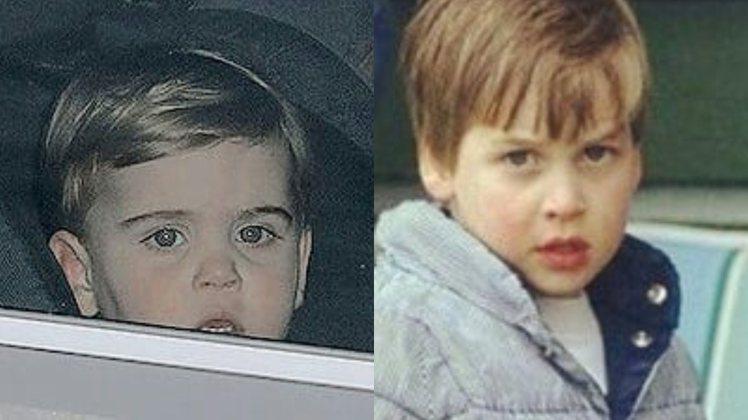 左為路易小王子,右圖為威廉王子幼時照片,無論是五官長像還是面部神情,眉宇之間非常...