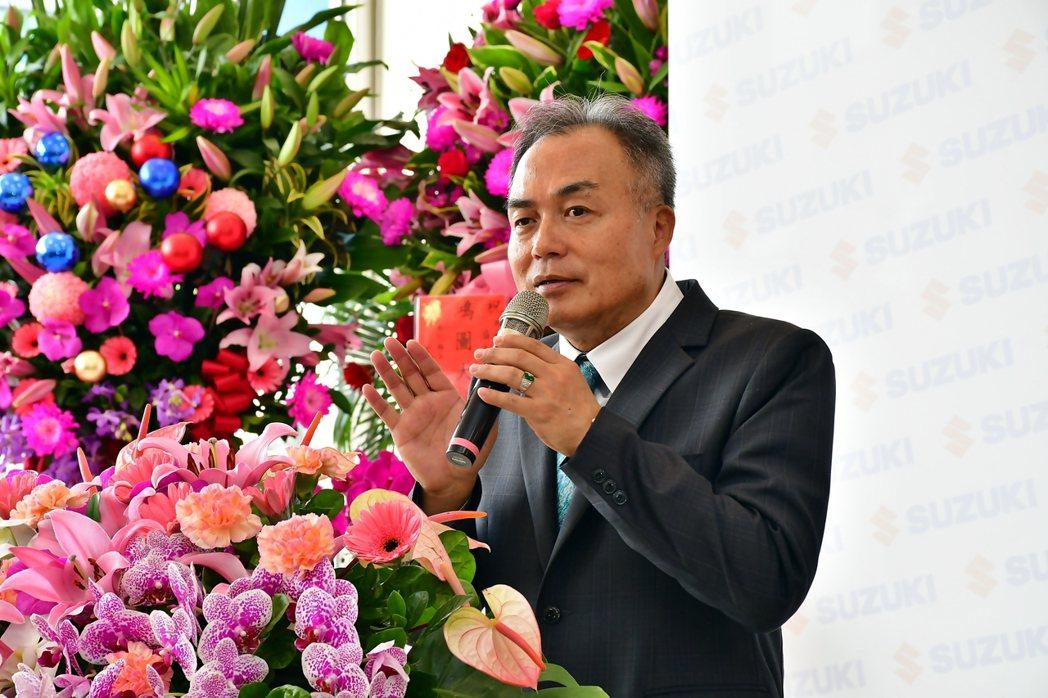 群峰車業蕭勝坤董事長。 圖/SUZUKI提供