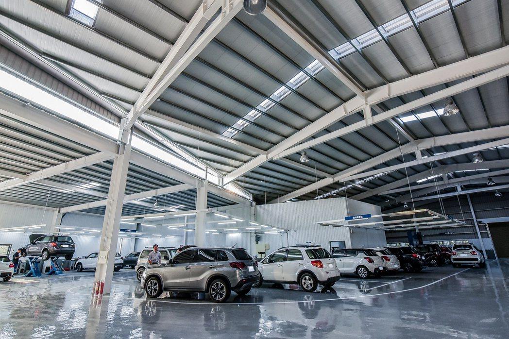 SUZUKI 群峰車業全新4S員林旗艦店服務廠。 圖/SUZUKI提供