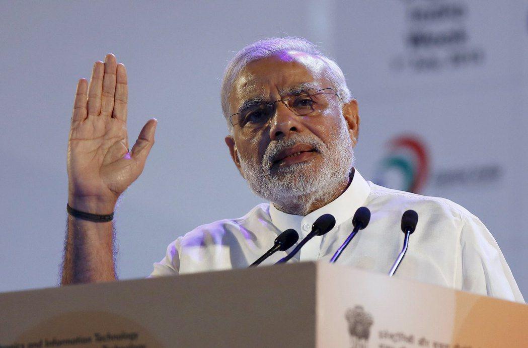 印度總理莫迪在競選期間大打數位牌,今年印度卻成為世界斷網最多次的國家。 (路透)
