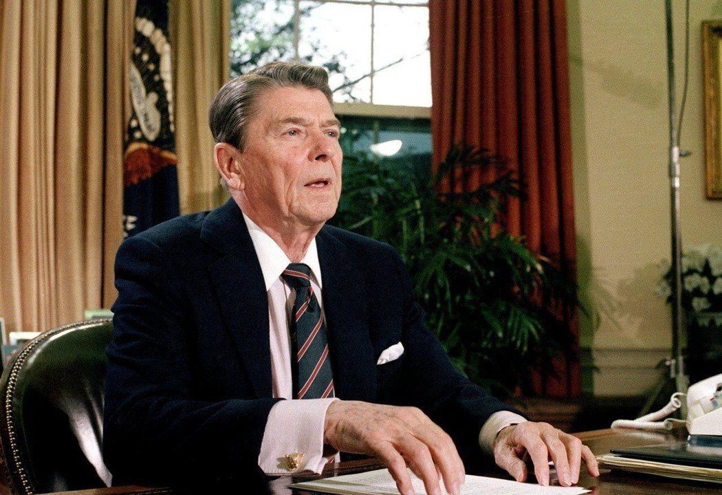 美國總統雷根。 (美聯社)
