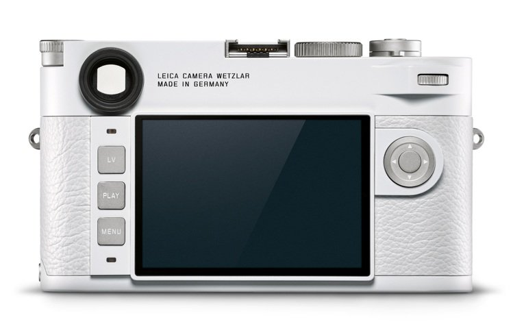 徠卡M10–P白色版,機身上每個細節都重新設計。圖/徠卡相機提供