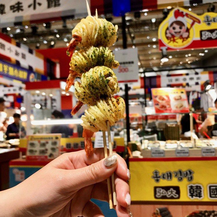 韓國街邊美食,可方便帶著走邊吃邊逛。記者江佩君/攝影