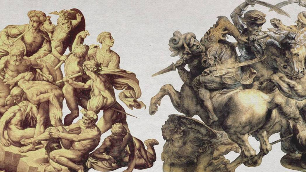 米開朗基羅以《卡西納戰役》盡展男體大成,達文西則以《安吉亞里戰役》糾結兵馬廝殺。...