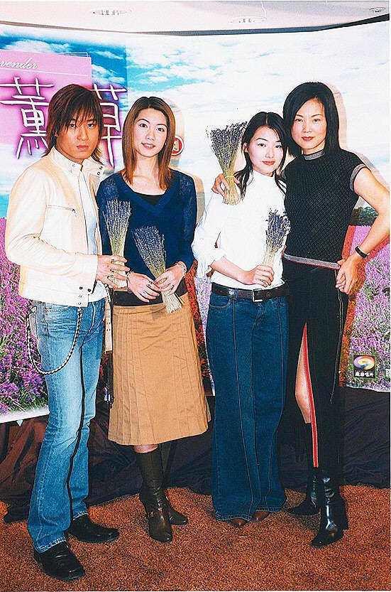 許紹洋、林韋君、陳怡蓉、徐貴櫻當年演出「薰衣草」。圖/報系資料照