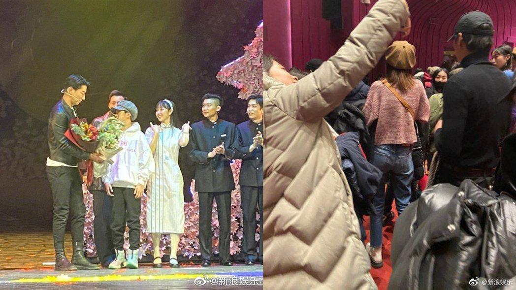 網友爆料偶遇寇靜帶天天捧場張亮舞台劇。圖/擷自微博