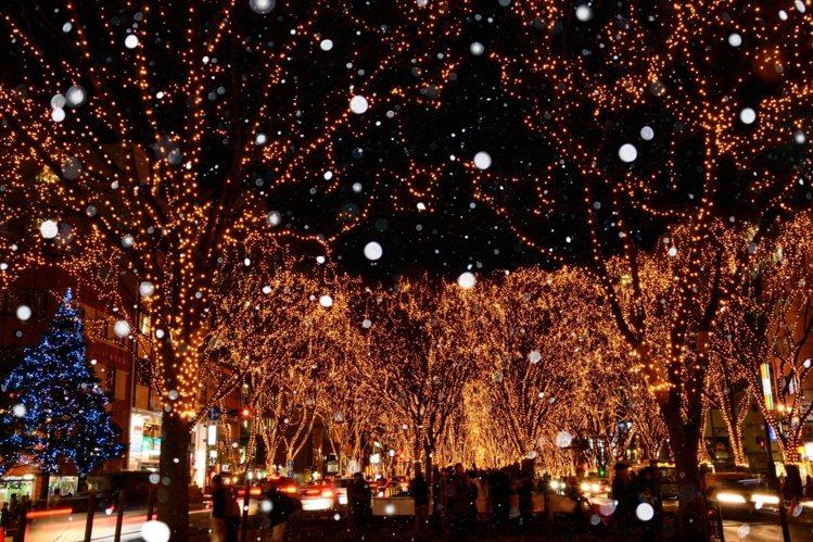 「SENDAI光之祭典」有60萬顆有如繁星的燈飾,每年吸引大量遊客共襄盛舉。圖/...