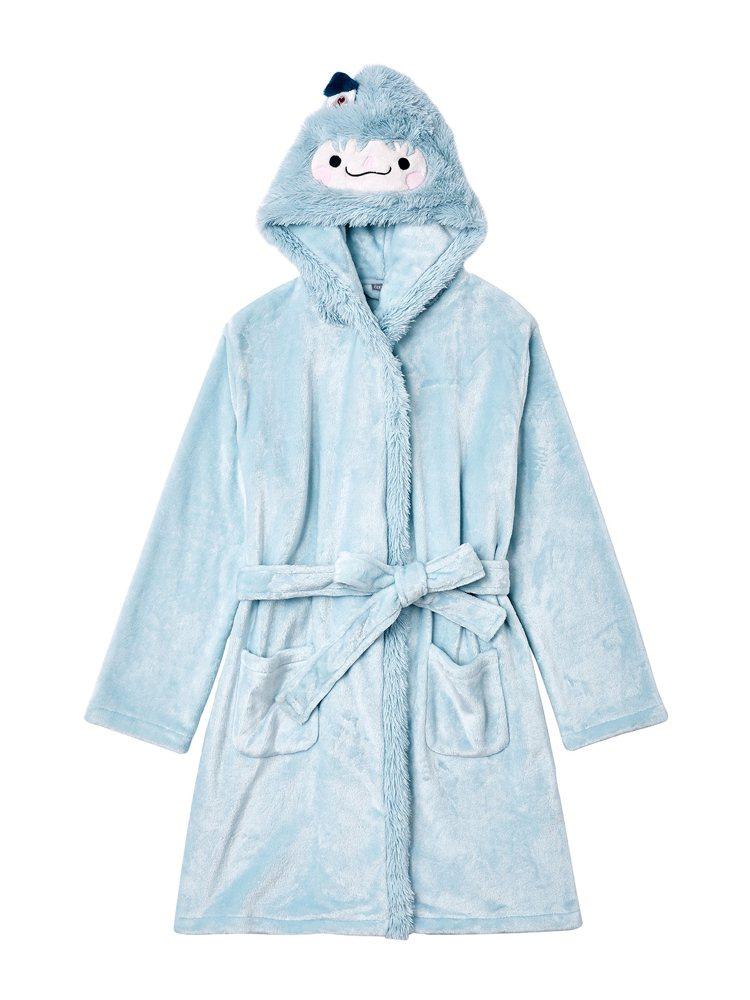 小雪怪睡袍最適合懶人保暖使用,雪怪造型連帽設計更是超級搶眼。圖/6IXTY8IG...