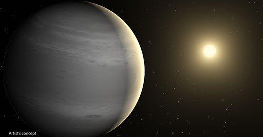 系外行星「水沙連」(左)及恆星「麗」(右)位於獅子座方向,該顆系外行星多年前就被發現,圖為模擬圖。圖/江瑛貴提供