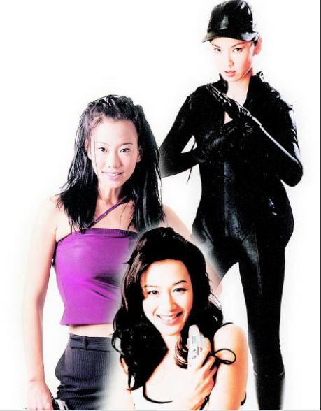 鍾麗緹(前起)、吳辰君、林熙蕾化身華人版「霹靂嬌娃」。圖/本報資料照片