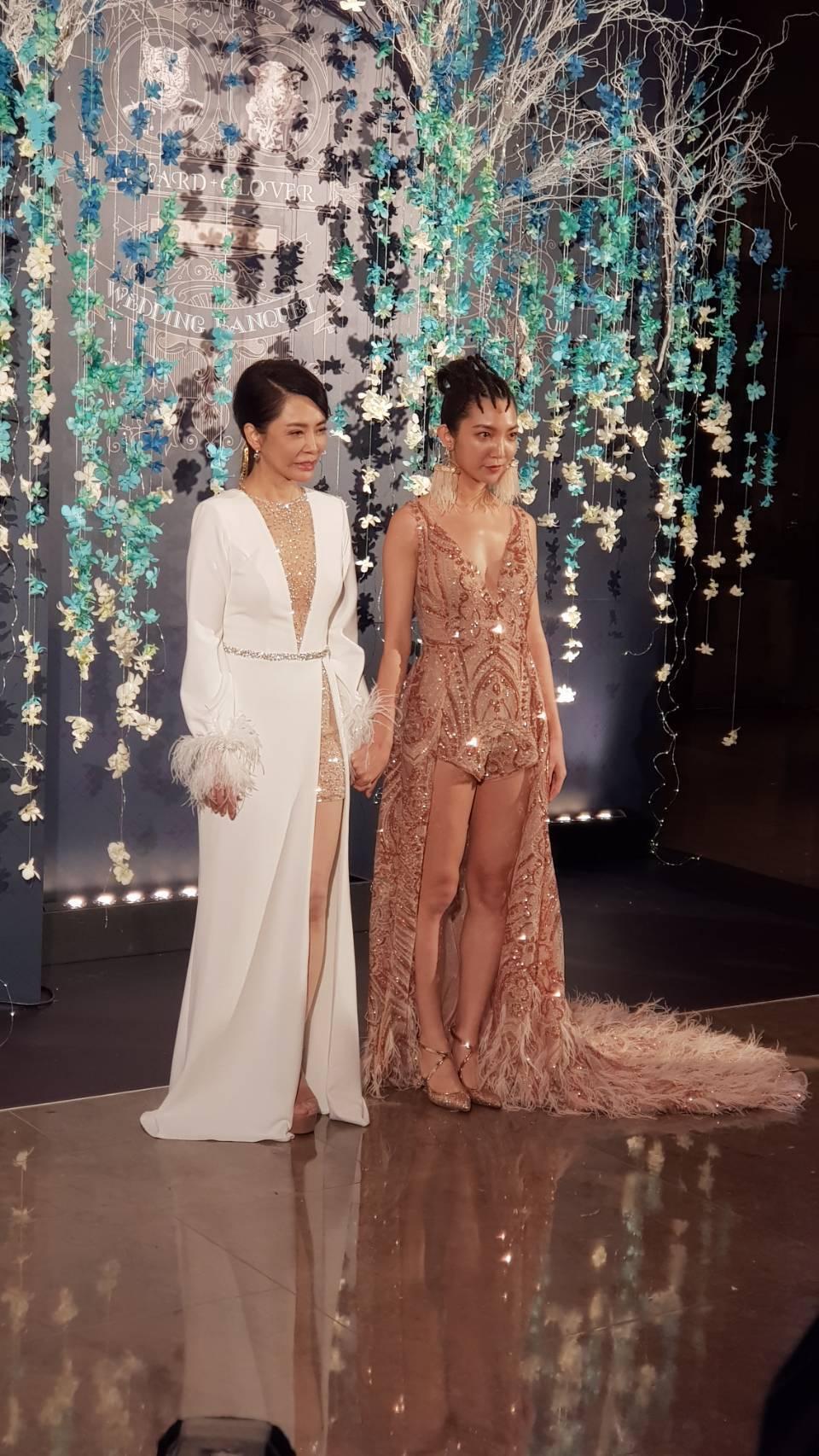 柴智屏(左)與高雋雅母女。記者杜沛學/攝影
