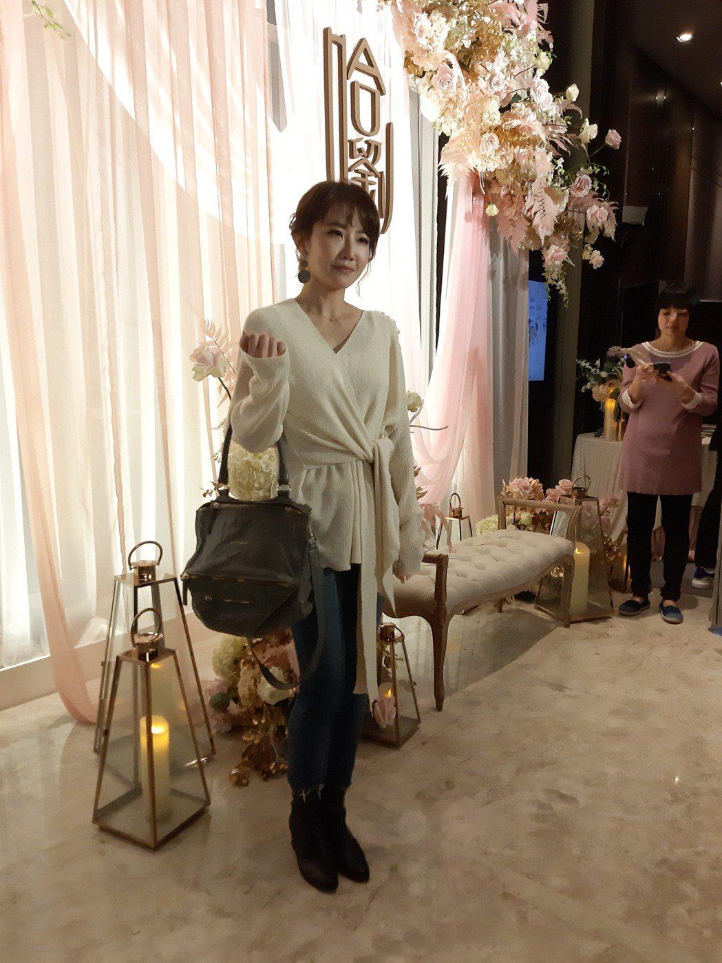 謝忻出席哈孝遠婚禮。記者林怡秀/攝影