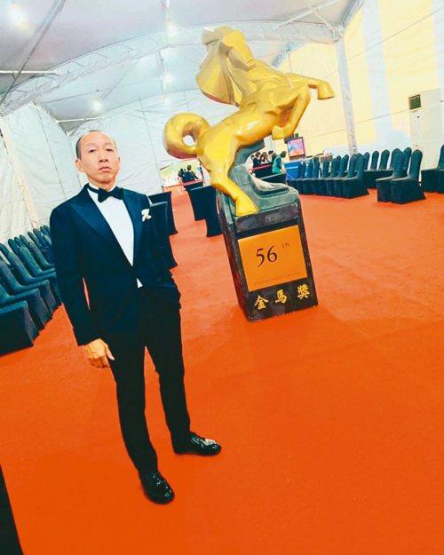 陳陸寬認為今年金馬獎紅毯酒會是「貓下去」的重要里程碑。 圖/陳陸寬提供