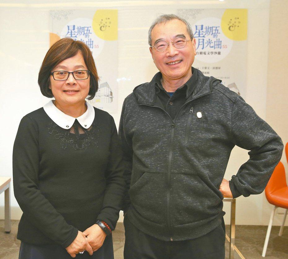 王榮文(右)、封德屏。 記者葉信菉/攝影