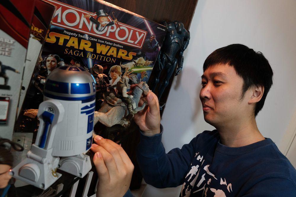 陳濤是中國罕見的星戰迷。(法新社)