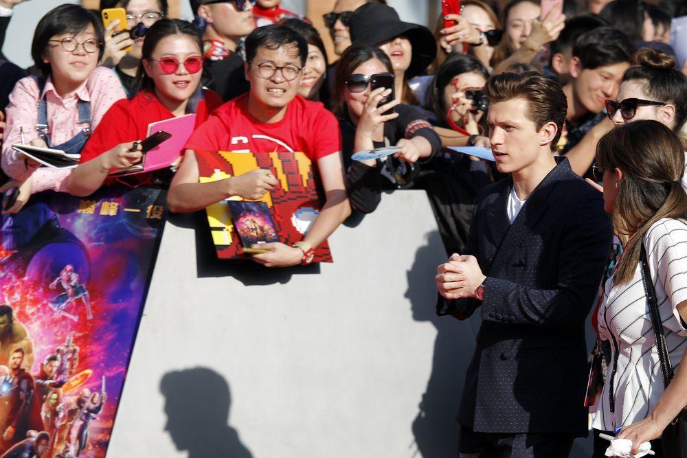 超級英雄電影深受大陸民眾喜愛。圖為去年漫威電影《復仇者聯盟:無限之戰》在上海舉辦...