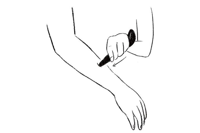 手臂放鬆3步驟,步驟3。 圖/WANQIAN