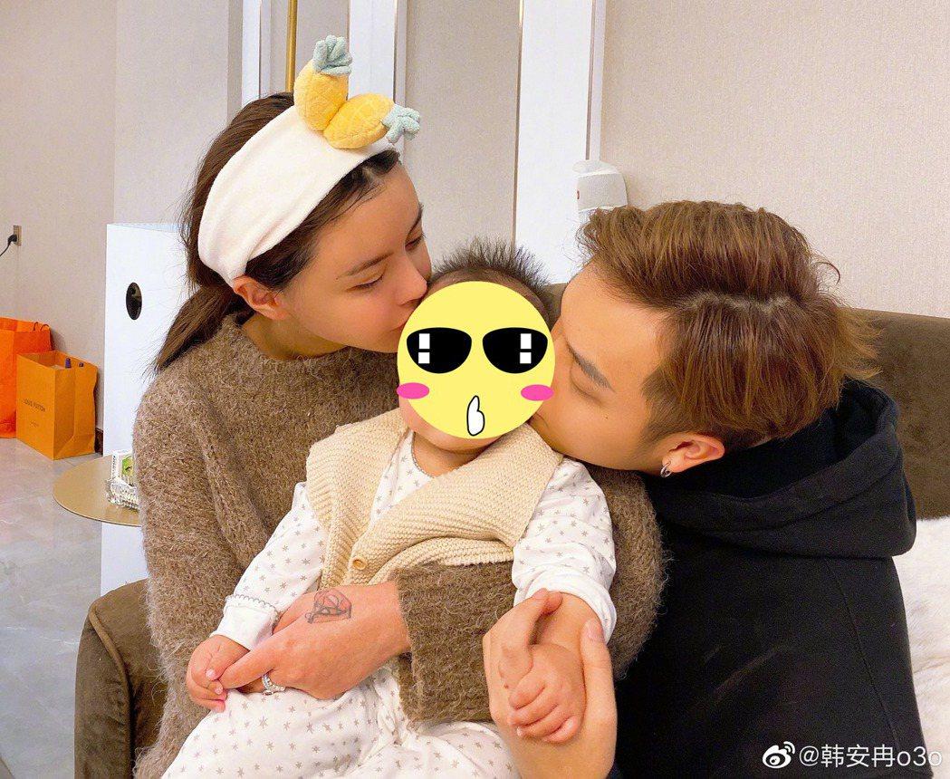 20歲韓安冉一年不到就歷經生女、結婚,又離婚。圖/擷自微博