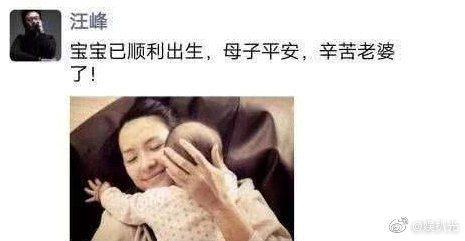 網傳汪峰在朋友圈分享喜訊,但被認為是P圖。圖/擷自微博