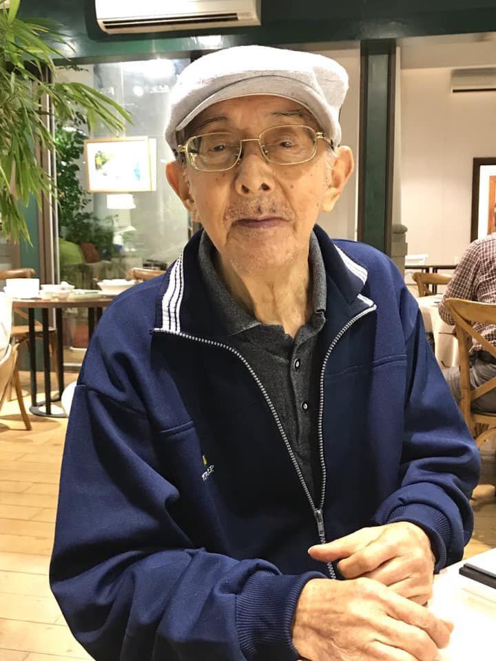 以《小太陽》著稱的兒童文學作家林良95歲時。圖/取自「林良爺爺」臉書粉絲專頁