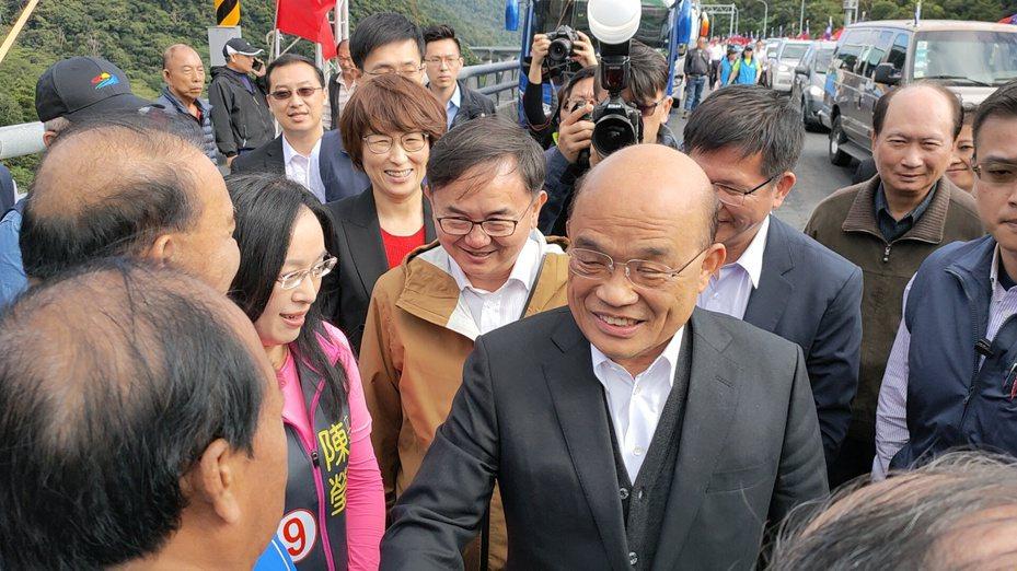 行政院長蘇貞昌今天上午主持南迴改全線通車典禮。記者羅紹平/攝影